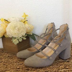 Brand new gray suede booties